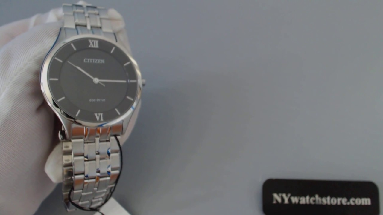 e0dbd5a4a70 Men s Citizen Stiletto Eco Drive Watch AR0071-59E - YouTube