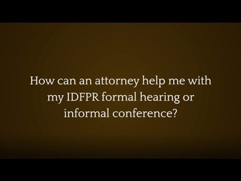 Videos | IDFPR Lawyer for Doctors, Nurses, Pharmacists