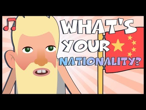 Nationality in Chinese 儿歌 - Fun Song, Easy Mandarin