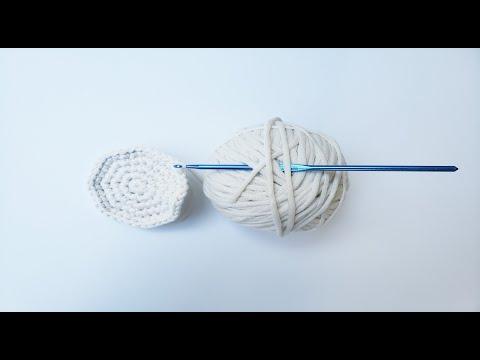 Красивый круг крючком для начинающих. A Beautiful Crochet Circle For Beginners.