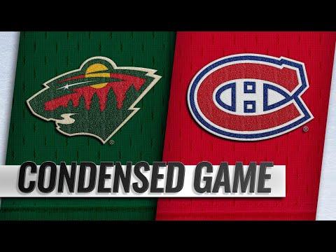 01/07/19 Condensed Game: Wild @ Canadiens