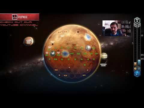 Terraforming Mars - Gameplay Vid #13 (Tharsis Republic) - Cardboard from Mars