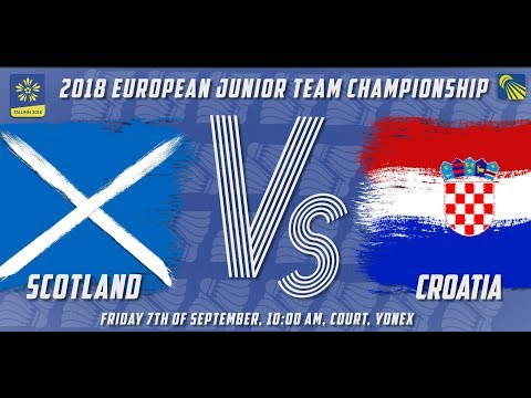 Scotland vs Croatia - Day 1 - 2018 European Jnr. Team C'ships