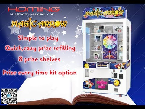 Magic Arrow Prize Arcade Game Machine / hot sale coin operated prize Redemption Game Machine