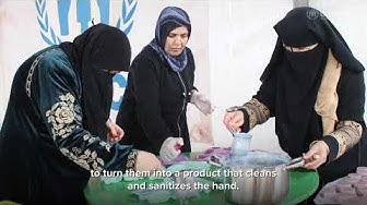 Za'atari refugee women make soap to help keep families sanitize