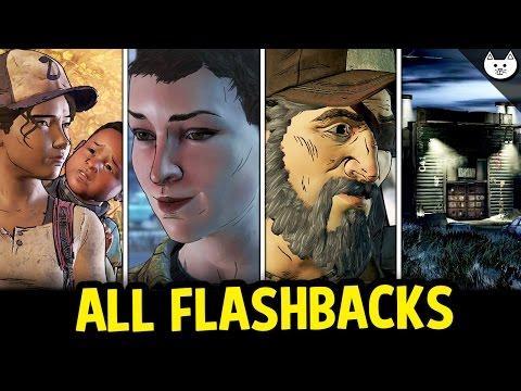 ALL EPISODE 1 FLASHBACKS Kenny, Jane, Alone, Wellington - The Walking Dead Game Season 3 Choices