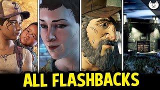 ALL EPISODE 1 FLASHBACKS (Kenny, Jane, Alone, Wellington) - The Walking Dead Game Season 3 Choices