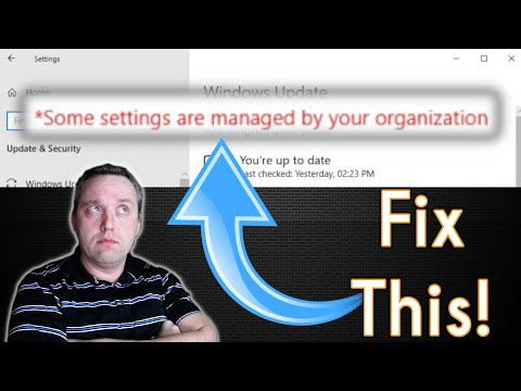 How to Fix Settings are Managed by your Organization Error