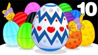 10 Huevos de Pascua Gigantes | Aprende Colores y Canciones Infantiles con Plim Plim