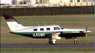 Piper PA-46 N45WF Departing Cambridge Airport