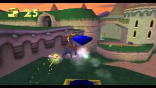 Spyro: The Dragon Gameplay on Epsxe PS1 Emulator