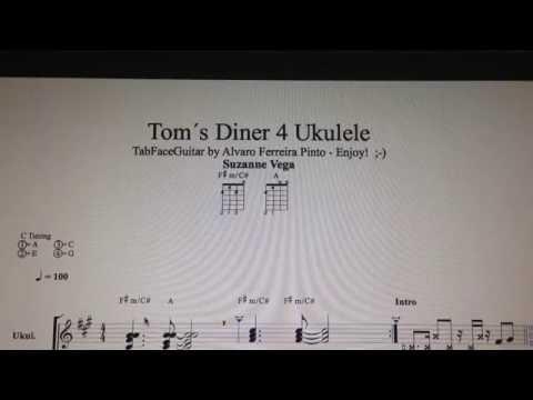 Toms Diner 4 Ukulele Suzanne Vega Tabfaceguitar Enjoy Youtube