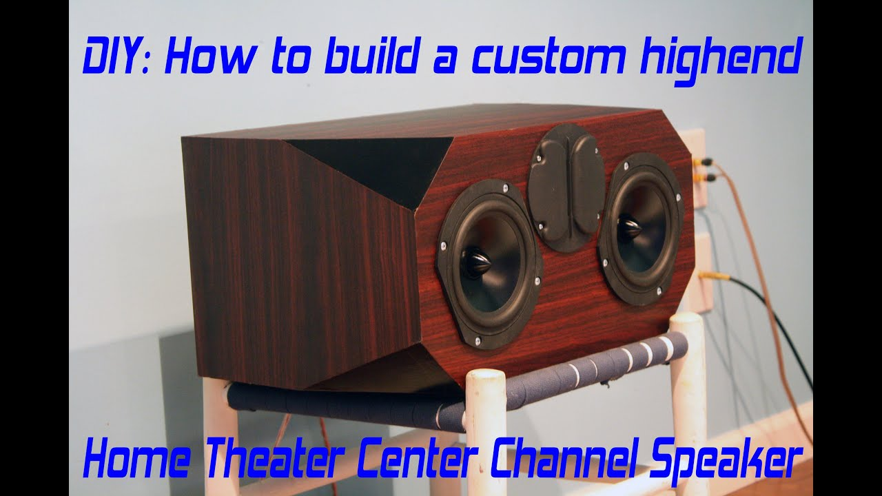 diy home theater center speaker build project - edge audio c3
