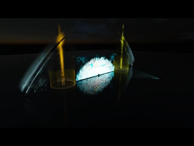 Water screen - màn nước chiếu phim