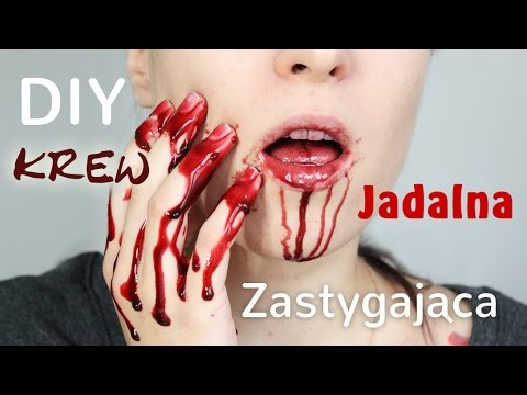 ♦ DIY: sztuczna krew - jadalna i zastygająca ♦ Agnieszka Grzelak Beauty