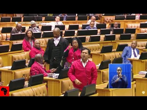 DRAMA - EFF vs Karima Brown In Parliament