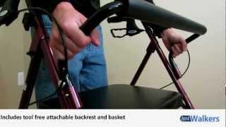 Just Walkers: Drive Go-Lite Bariatric Steel Rollator