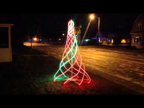 arduino powered led spiral christmas tree