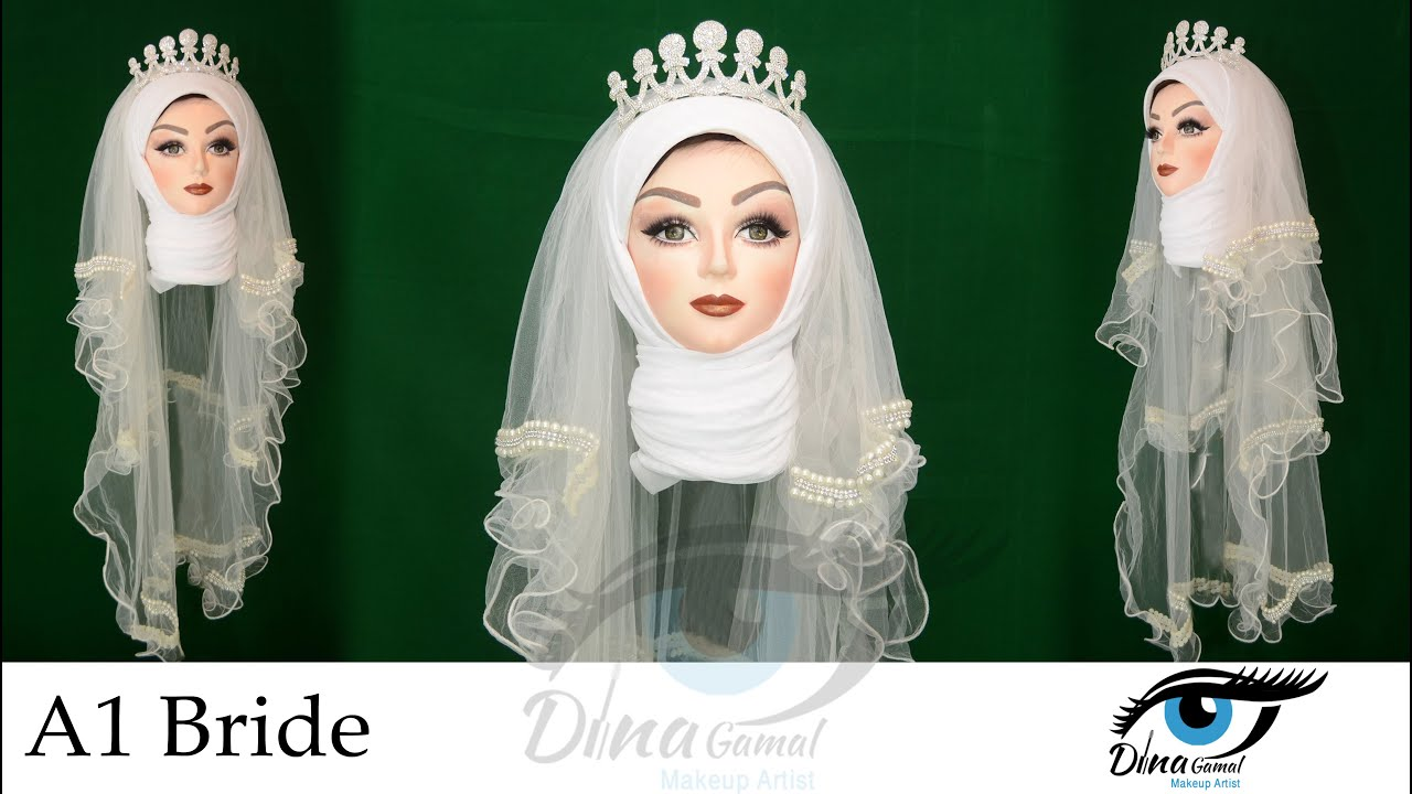 80dd94edee8c2 لف حجاب العروسة