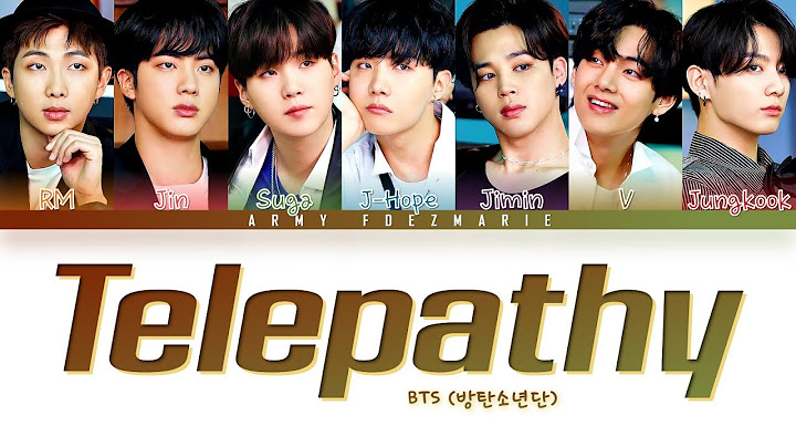 BTS Telepathy Lyrics (방탄소년단 잠시 가사) [Color Coded Lyrics/Han/Rom/Eng]