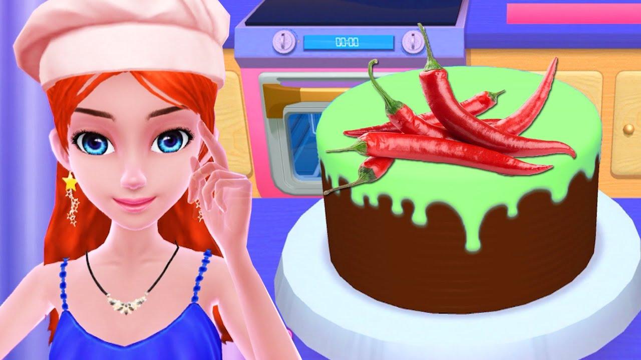 Masak Masakan Membuat Kue Permainan Anak Perempuan Youtube