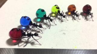 Glass art: 作品集①   硝子昆虫/ つのだゆき