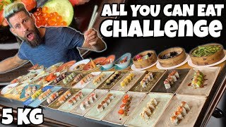 ALL YOU CAN EAT CHALLENGE (5KG DI SUSHI) - Cheat day - MAN VS FOOD