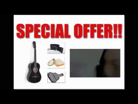 "Best Buy Free Shipping 38"" Black Acoustic Guitar Starter Package (Guitar, Gig Bag, Strap, Pick)"