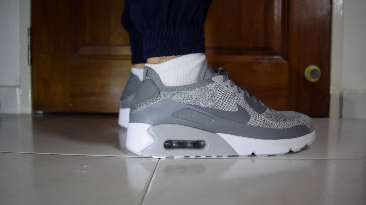 338013690337 ... coupon code for nike air max 90 ultra 2.0 flyknit pure platinum cool  grey on feet