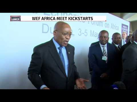 President Zuma answers questions from media at WEF Africa 2017