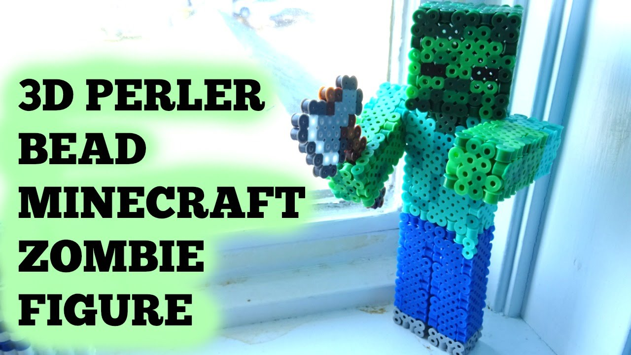 3d Perler Bead Minecraft Zombie Figure Full Tutorial
