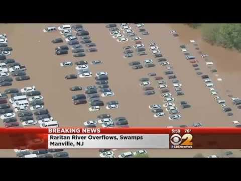 Flooding Leaves New Jersey Streets, Homes Underwater