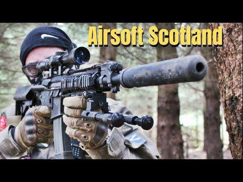 AIRSOFT WAR STEYR AUG, MP40, PTS M4 Scotland HD