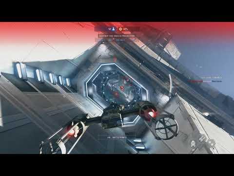 Assault the Star Destroyer - Star Wars Battlefront 2 Starfighter Assault Gameplay