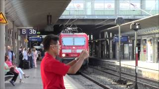 DB Regio Bound for Wiesbaden at Mainz Hbf, Germany 02/Aug/2014 ドイツ、マインツ中央駅の各駅停車