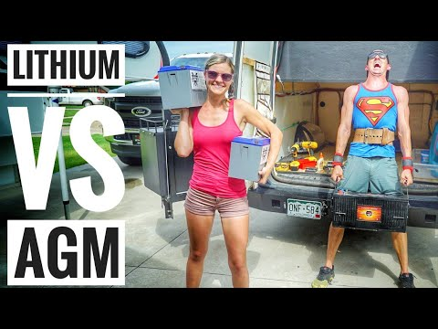 AGM vs Lithium Ion Battery For Solar in a DIY Camper Van or RV Solar Battery Bank