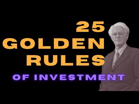Peter Lynch's 25 Golden Rules of Investment