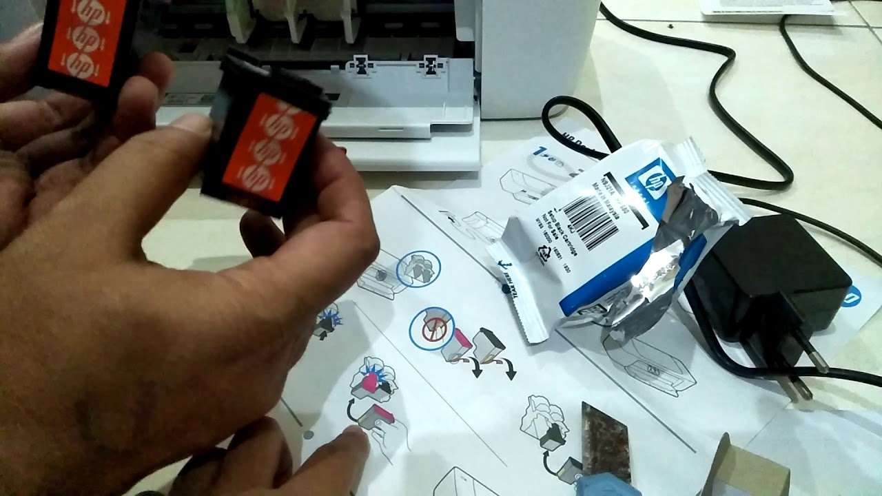 Cara Mudah Memasang Cartridge Printer Hp 1110 1115 Series Youtube Tinta 680 Black