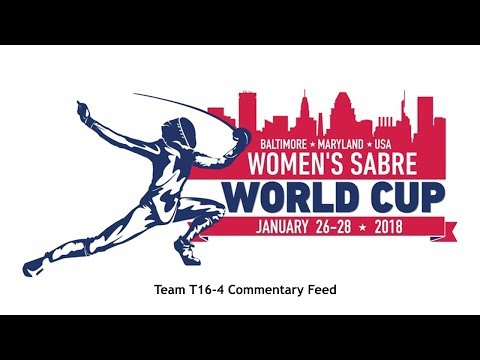 Baltimore Women's Sabre World Cup 2018 Team T16-4