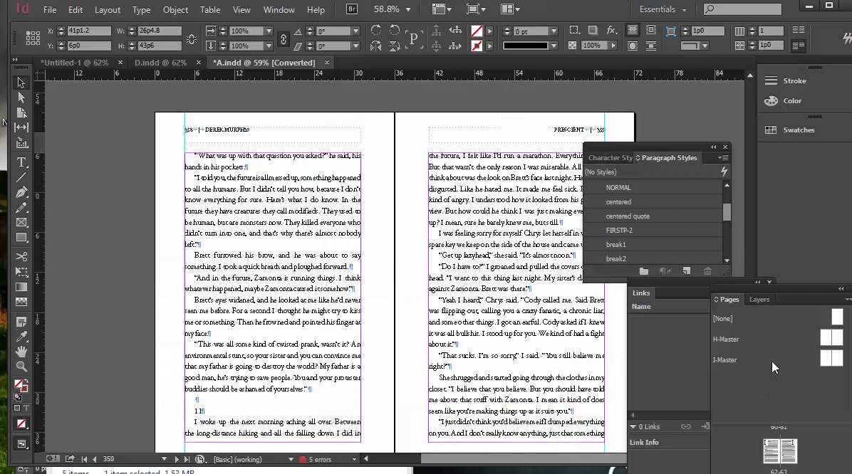 How to format a book in indesign for createspace etc for Createspace formatted template