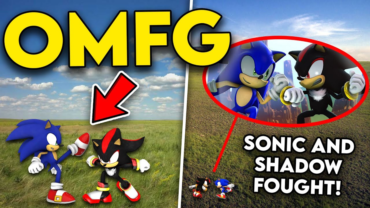 DRONE CATCHES SONIC AND SHADOW THE HEDGEHOG FIGHTING IN REAL LIFE!! (ON CAMERA)