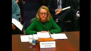 Secretary Clinton Testifies Before the House Foreign Affairs Committee on Benghazi
