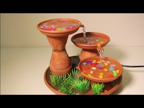 How To Make Non Stop Water Fountain With Recycled Soil Cup | DIY Crafts