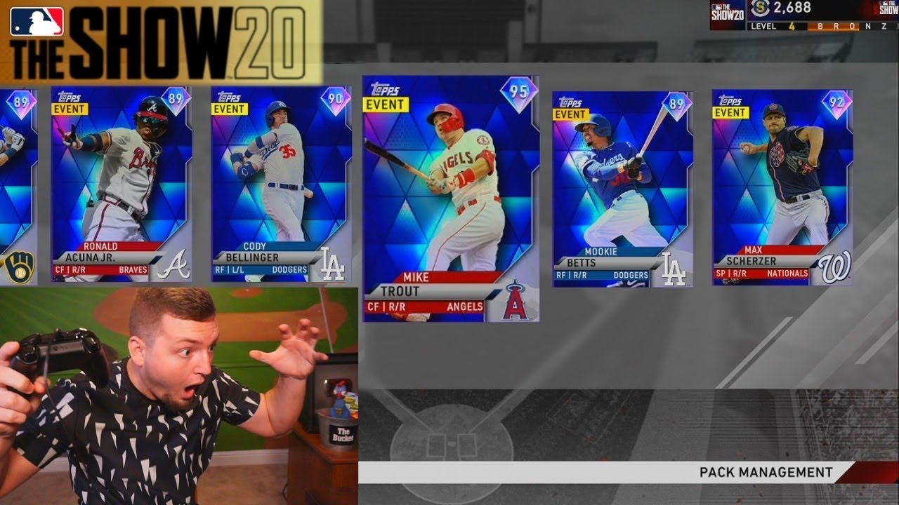 50 DIAMONDS & Mike Trout pulled in the GREATEST MLB The Show 20 Pack Opening EVER!