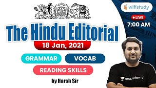 7:00 AM - The Hindu Editorial Analysis by Harsh Sir | 18 January 2021 | The Hindu Analysis