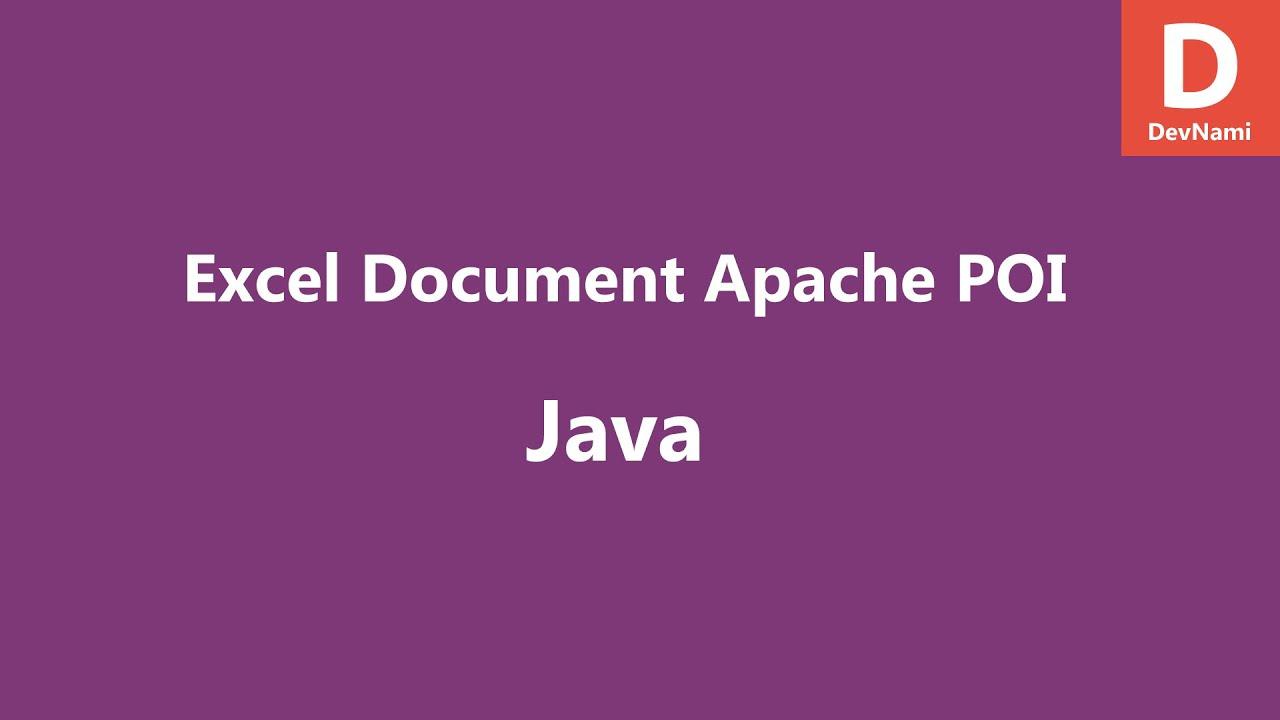 Create Excel File Java Apache POI