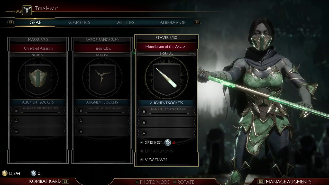 Mortal Kombat 11 Customize Jade Abilities Masks And Staves Youtube