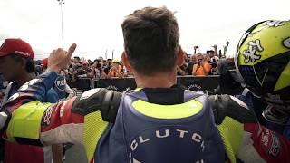 Bol d'Or 2018 - Finish of the race - winners F.C.C. TSR Honda France