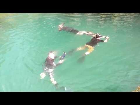 2 UK, 1 OZZIE, diving Bogac Lagoon, Mindanao,Philippines