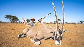 Hunting GIANT African ORYX!!! (CATCH CLEAN COOK)